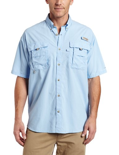 Columbia Men's Bahama II Short Sleeve Shirt,SAIL,X-Large