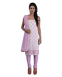 Mumtaz Sons Women's Cotton Unstitched Dress Material (MS111456B,Lavender)