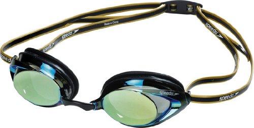 Speedo Vanquisher 2.0 Plus Mirrored Goggle, Black/Gold