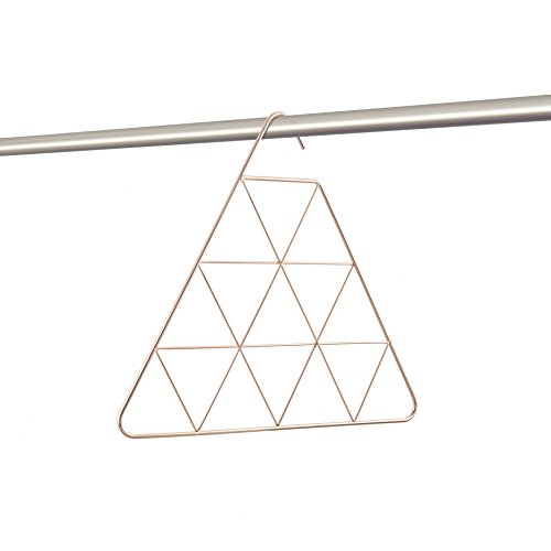 Umbra 294313-880 Closet Pendant Schalhalter, Schalaufhänger, Schalsortierer, Schal, Schals, 15 Dreiecke zu Aufhängen, Verkupfertes metall, kupfer