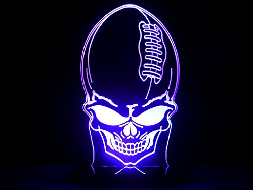 Nfl Football Skulls Head Led Light Desk Lamp Sport Teams Man Cave Halloween Gift Ghost front-1073570