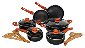 Melange Induction Ready Nonstick Scratch Resistant Ceramic Coating PTFE-PFOA-Cadmium-Lead Free Dishwasher Safe 10 Piece Cookware Set