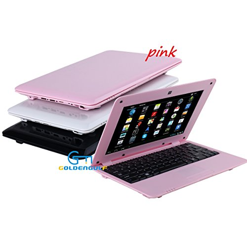 Grandorient 10 Inch Mini Laptop Netbook Android Computer Notebook Dual Core 4GB Wifi 3G Camera (pink)