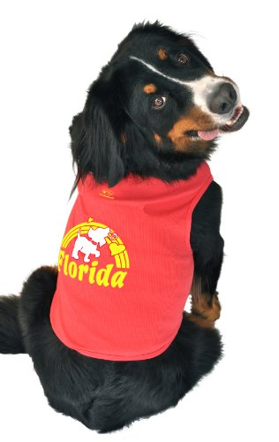 [Ruff Ruff and Meow Dog Tank Top, Florida, Red,  Medium] (Fire Hydrant Dog Costume)