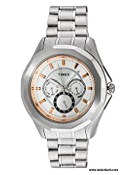 Timex E Class Multi Function Chronograph Silver Dial Men's Watch TI000P60000
