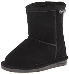 BEARPAW Emma 608T Shearling Boot (Toddler/Big Kid),Black,9 M US Toddler