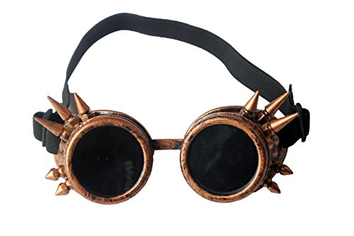 Careonline-COPPER-CYBER-GOGGLES-STEAMPUNK-WELDING-GOTH-COSPLAY-Glasses-Eyewear-Brass