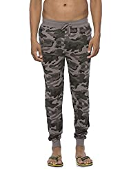 Clifton Mens Army Slim Fit Track Pant -Steel Grey