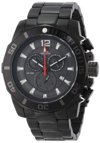 Swiss Precimax Men's SP13253 Crew Pro Black Dial with Black Stainless Steel Band Watch