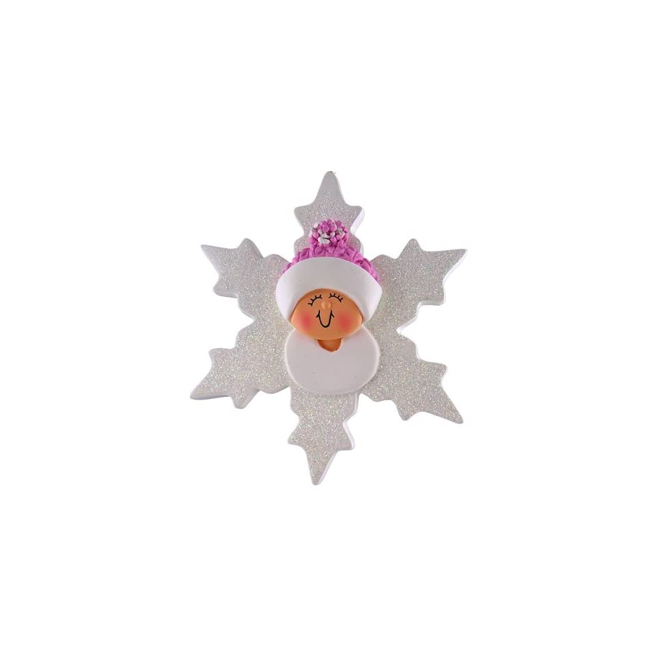 3472 Baby Snowflake Hand Personalized Christmas Holiday ornament