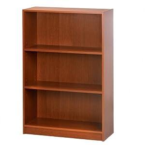 sauder beginnings 3 shelf bookcase in mission. Black Bedroom Furniture Sets. Home Design Ideas