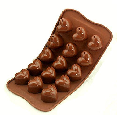 Hearts Shape Silicone Cake Tools Chocolate Ice Mold