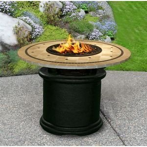 California-Outdoor-Concepts-2020-BK-FP-LAG-48-Del-Mar-Dining-Height-Fire-Pit-Black-Gas-Logs-Laguna-Mosaic-48-in-Tile-Top