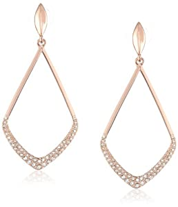 Vince Camuto Rose Gold and Crystal Drop Earrings at Sears.com