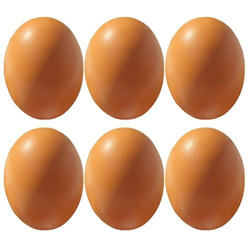 6Pcs Wooden Faux Fake Eggs, Children Play Kitchen Game Food Toy - Log Color (Wood Chicken Eggs compare prices)