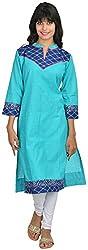 Goodyygoods Women's Cotton Regular Fit Kurti (GG 50, Blue, Large)