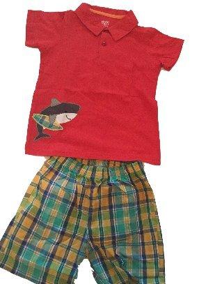 HarrowandSmith British Fashion Store-Polo Rosso Pattern uomo pull on pantaloni chinos di spunta verde indossare in estate Multicolored 2 Anni