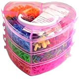 Loom Bands Box, TOPMAX 8100 Colorful DIY Rubber Bands Kit With Box