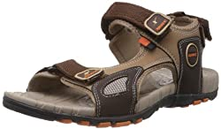 Sparx Mens Camel Brown Nylon Sandals and Floaters - 8 UK