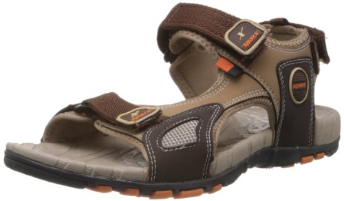 Sparx-Mens-Camel-Brown-Nylon-Sandals-and-Floaters-6-UK