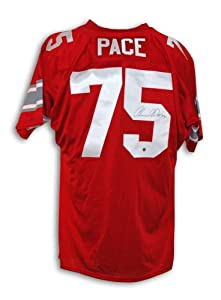 Orlando Pace Autographed Jersey - Ohio State Buckeyes Red Throwback - Autographed NFL... by Sports+Memorabilia