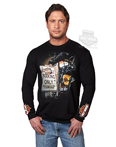 Harley-Davidson Mens Premium Performance Motorcycle Black Long Sleeve T-Shirt - XL