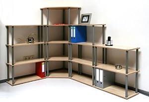 MOB Büro und Wohnregal  Flexible Größenwahl  Ahorn / Buche Wechseldekor, 70x110x30cm  BaumarktKundenbewertung und Beschreibung