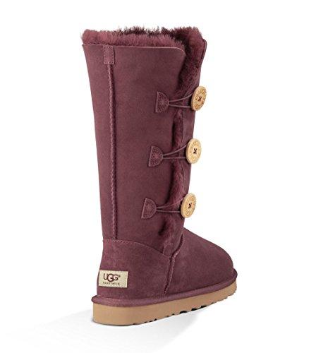 UGG Australia Womens Bailey Button Triplet Boot Port Size 7