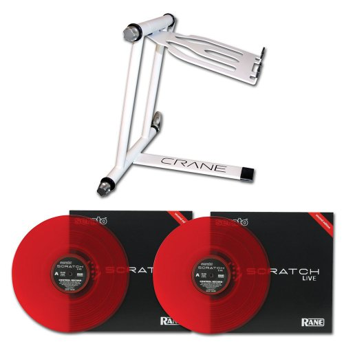 Crane Plus Dj Laptop Stand W/ Twin Serato Vinyls