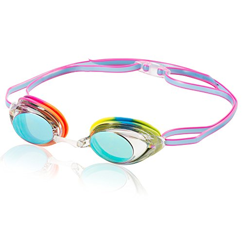Speedo Vanquisher 2.0 Mirrored Swim Goggle, Rainbow, One Size
