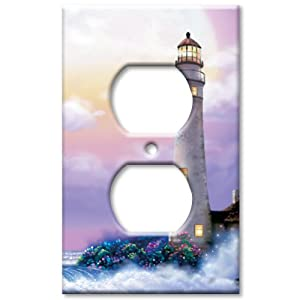 Art plates lighthouse of dreams switch plate outlet for Lighthouse switch plates
