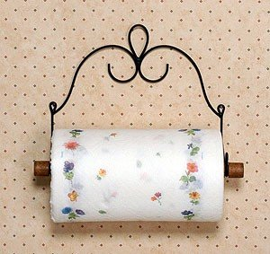 Wire Victorian Paper Towel Holder Double