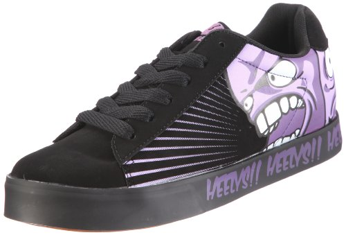 Heelys SCREAM 7721, Unisex - Kinder Sneaker, Schwarz (Blk/Purple), EU 38 (US 6)