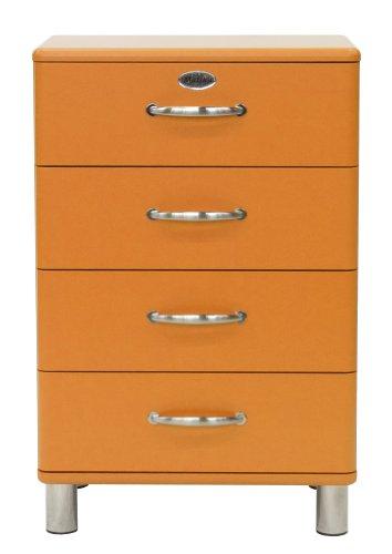 Tenzo 5116-017 Malibu – Designer Kommode 92 x 60 x 41 cm, MDF lackiert, orange