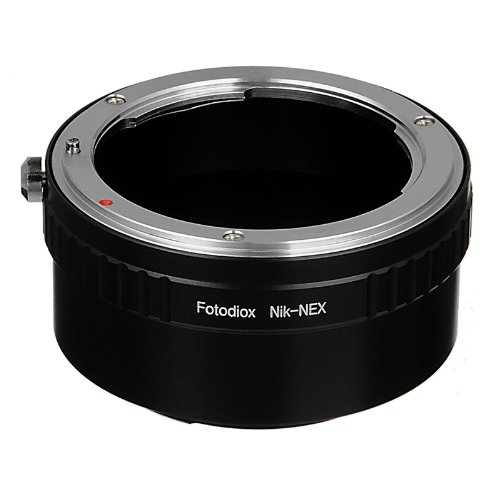 Fotodiox Lens Mount Adapter, Nikon Lens to Sony NEX E-Mount Camera, for Sony Alpha NEX-7, NEX-6, NEX-5N, NEX-5, NEX-C3, NEX-3