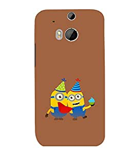 printtech Minions Birthday Back Case Cover for HTC One M8::HTC M8