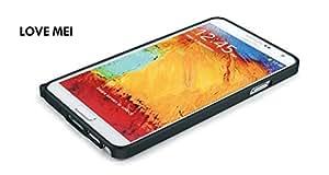 LOVE MEI 0.7mm Ultra Slim Metal Bumper Case for Samsung Galaxy Note 3 N9005 N9002 N9000 - Black