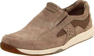 (狂降)其乐Clarks Men's Seneka Slip-On轻量休闲皮鞋,棕,$54.76
