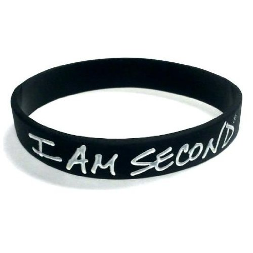 5-i-am-second-black-and-white-silicone-wristband-bracelets-place-jesus-others-first
