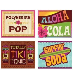 Tiki 2 Liter Bottle Labels Party Accessory - 1