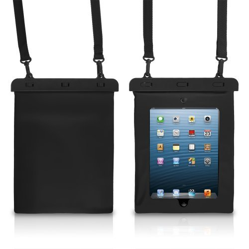Chromo Inc. Waterproof Case For All Apple Ipads - Samsung Galaxy Tab 10.1-Inch And Other Like Sized Tablets - Black