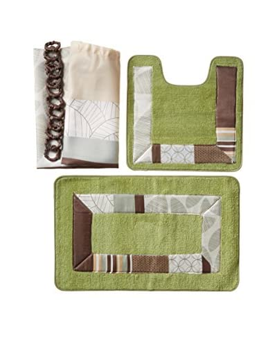 Palace Linens 15-Piece Bathroom Ensemble, Belize Green