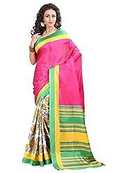 SUHEMA TRADIDITIONAL ETHNIC PRINTED PUTDI BHAGALPURI SAREE