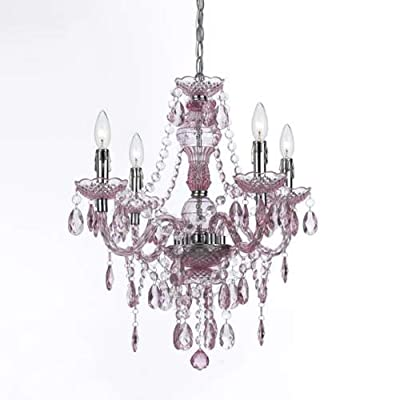 "AF Lighting 8683-4H Naples 23.5"" Height 4 Light Chandelier,"