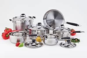 Paderno 4300-11-01 Artistry Cookware Set, 11-Piece
