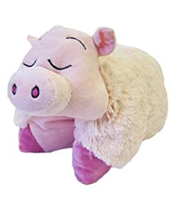Childrens Transforming Cute Animal Cuddle Cushion Pals Pillow, Pink Pig,