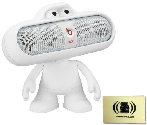 Beats By Dr. Dre Pill 2.0 Wireless Portable Speaker System (White) Bundle With White Beats Pill Character Stand And Zorro Sounds Polishing Cloth