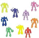 Package of 140 small Battle Robots. About 5 different unpainted plastic figures that resemble Gundam Mobile Suit.