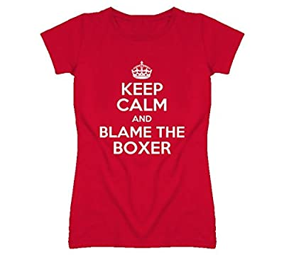 Keep Calm and Blame the Boxer Rescue Dog T Shirt