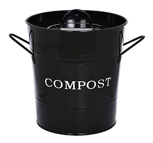 new-black-kitchen-galvanised-steel-powder-coated-compost-waste-recycling-caddy-bin-plastic-bucket-fr